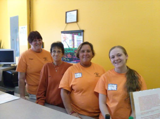 Come in and meet our team of tanning experts, Ginger, Kim (Owner), Carrie, and Ashley